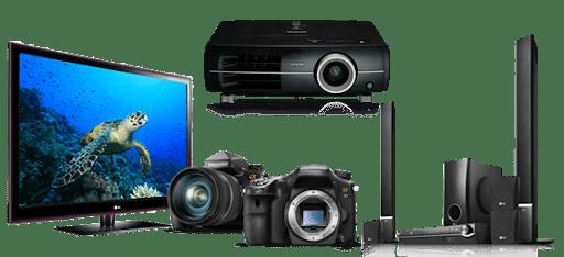 reparación tv cámaras proyectores sonido